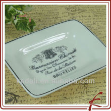 rectangular ceramic soap plate